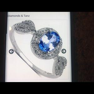 Ladies Diamond and Tanz size 7 ring